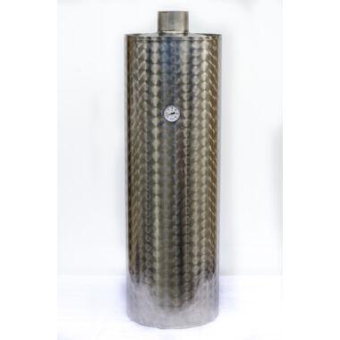 Boiler de baie inox pentru focar, 95 l, din tabla de 2 mm